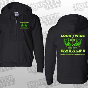 #12 A Anniversary Zipper-Hoodie